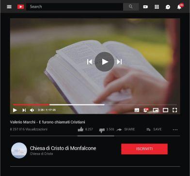 Canale YouTube Chiesa di Cristo Monfalcone