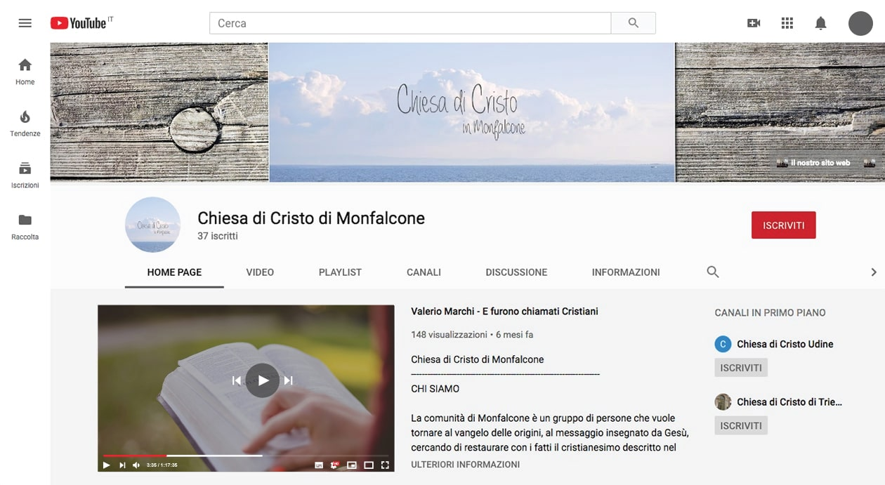 canele youtube chiesa di cristo